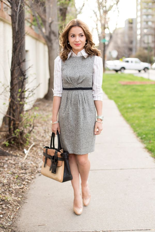 Work Outfit: the Shirt-under-Dress Look