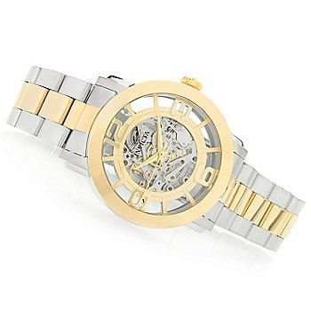 Invicta 45mm Vintage Automatic Skeletonized Dial Stainless Steel Bracelet Watch