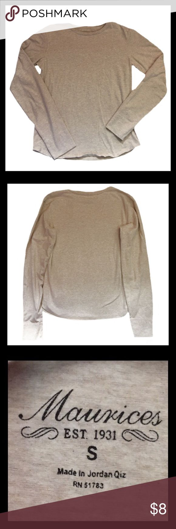 MAURICES Long Sleeve Shirt Gently used MAURICES long sleeve shirt; Size small.    *****BUNDLE AND SAVE***** Maurices Tops Tees - Long Sleeve