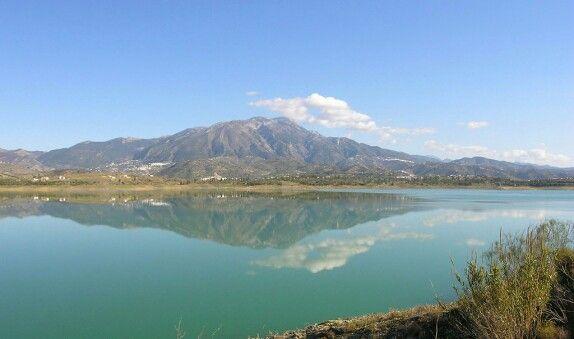 Lake Vinuela, Axarquia Malaga Provence, Spain.