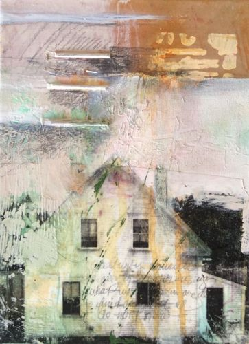 "Where ART Lives Gallery Artists Group Blog: Abstract Mixed Media Painting 30/30 Challenge ""Life Story"" by Intuitive Artist Joan Fullerton"
