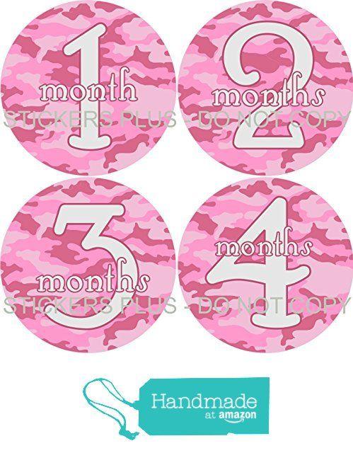 Baby Girl Month Stickers Monthly Baby Milestone Stickers Pink Camouflage Camo Girly Font from Angies StickersPlus https://www.amazon.com/dp/B01B248ZWC/ref=hnd_sw_r_pi_awdo_QhpmzbZ0XJQ48 #handmadeatamazon