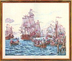 Ships In A Harbor -