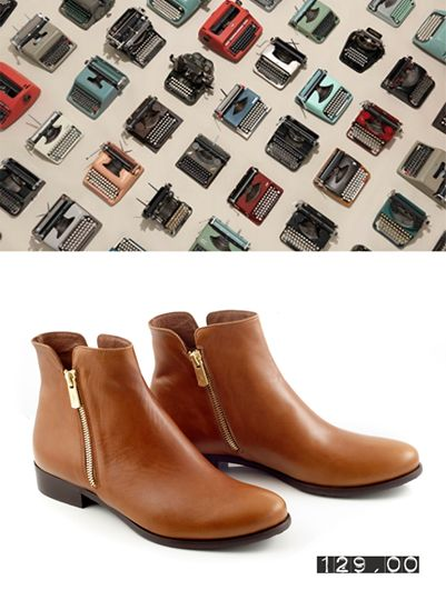Taba Gautso Flat Ankle Boots by Chaniotakis.