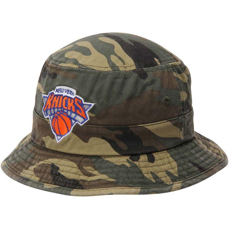 New York Knicks adidas Camo Bucket Hat - Green