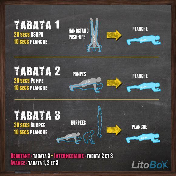 Entraînement Tabata en mode CrossFit avec handstand pushups, pompes et burpees ! N'oubliez pas de poster votre score sur le blog ;)