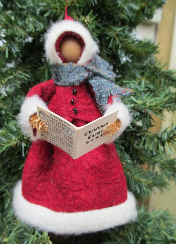 Christmas Caroler Ornament Clothespin  by ModerationCorner on Etsy