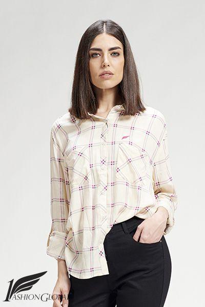 Camisa de cuadros de mujer manga larga, con dos bolsillos, de algodón. 27.50 € ENVÍOS A TODO EL MUNDO. PAGOS: tarjetas crédito y débito.  https://www.1fashionglobal.net/todomodaonline/tienda/