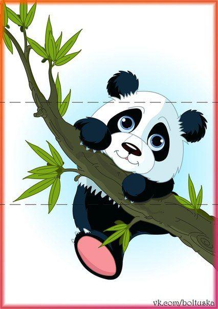 Sticker giant panda climbing tree - walk • PIXERSIZE.com