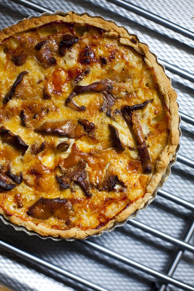 Vasterbottenost (similar to Gruyere Cheese) and Chanterelle Mushroom Tart