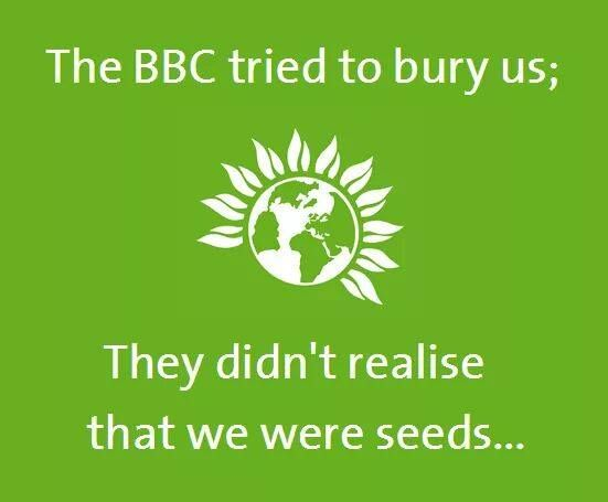 The BBC refused air-time for the Green Party.  Membership rose.