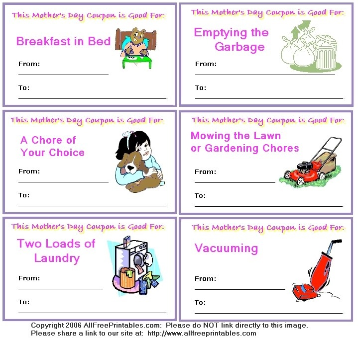 98 best images about mother 39 s day crafts on pinterest for Coupon template for pages