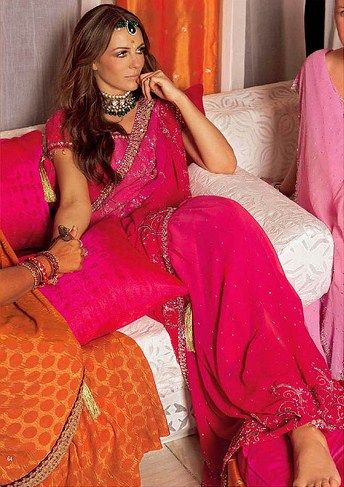 Liz Hurley's pink Indian wedding wear for her wedding to Arun Nayer One of my fave wedding looks ever