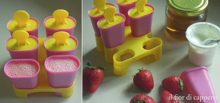 Ice pops, Ghiaccioli morbidi di frutta e yogurt (senza gelatiera) | il fior di cappero