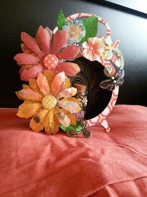 HappyMomentzz crafting by Sharada Dilip: Recycled - Shabby Chic Alarm Clock