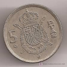 moneda de 5 pesetas Más