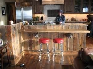 kitchen island with bar top reclaimed barn wood bar island an idea to repurpose wood 24803