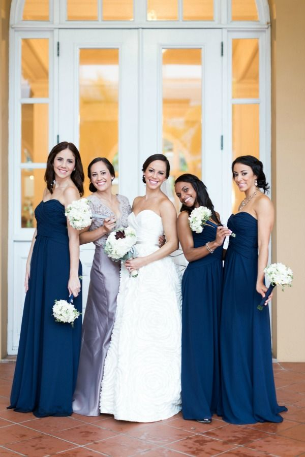 Navy bridesmaid dresses puerto rico wedding cory for Puerto rican wedding dress