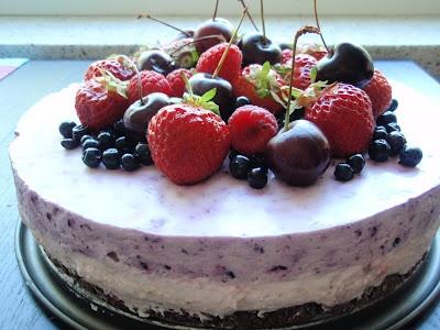 Marian pieni leipomo - Maria's little bakery: Marjaisa juustokakku / Non bake berry cheese cake