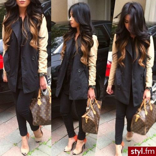 Perfect ombre. Fab outfit