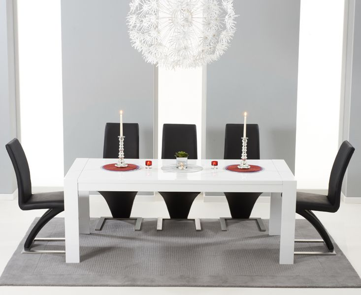 Venice 200cm White High Gloss Extending Dining Table with Hampstead Z Chairs. 10156 best Fantastic Furniture images on Pinterest   Ceilings