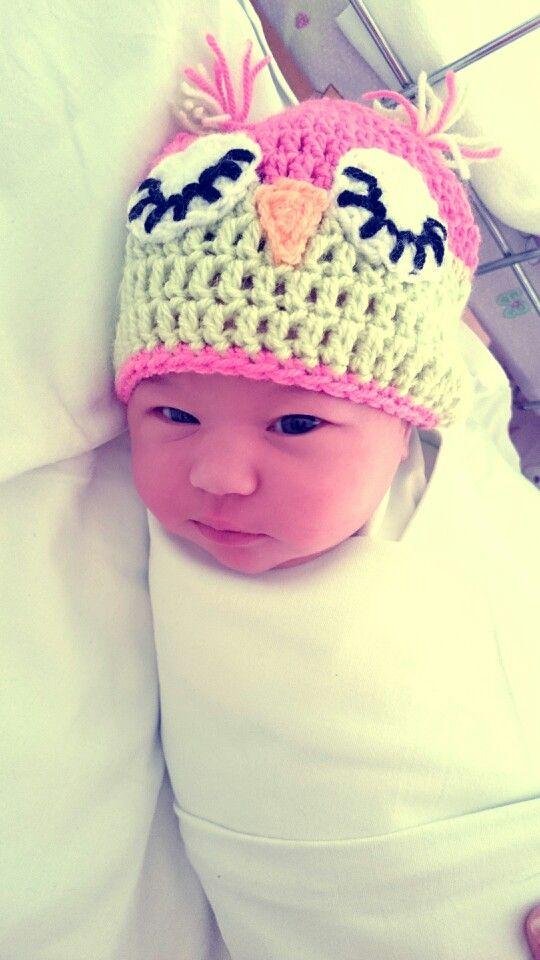 #baby #cap #handmade #maternity #owl #baby #beautiful #kids #love #born #cute #kidsphotografy