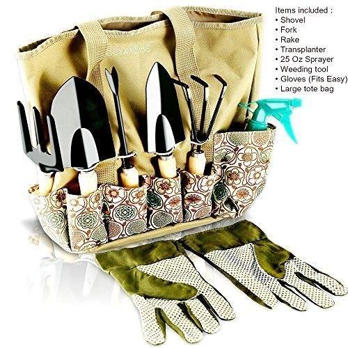 Garden Tool Set 8 Pieces Gardening Tools Storage Bag Organizer Hand Tool, Glove #OpportunityBestDealGardenTool