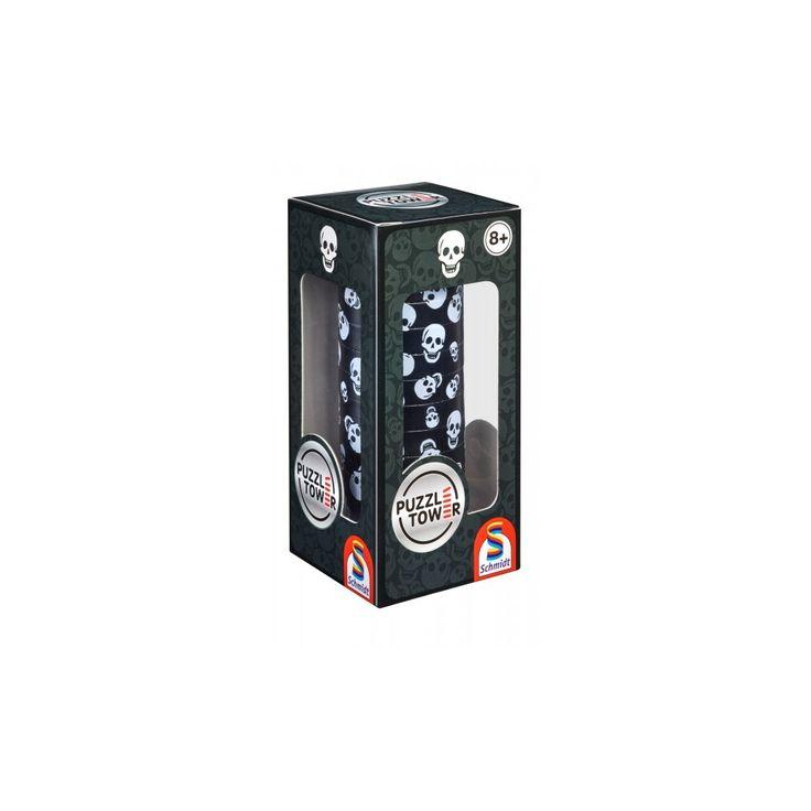 Kirakó torony- Koponyás, Puzzle Tower Skull, logikai játék 8 éves kortól - Schmidt Spiele