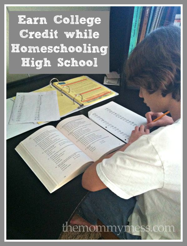 Earn college credit while homeschooling high school