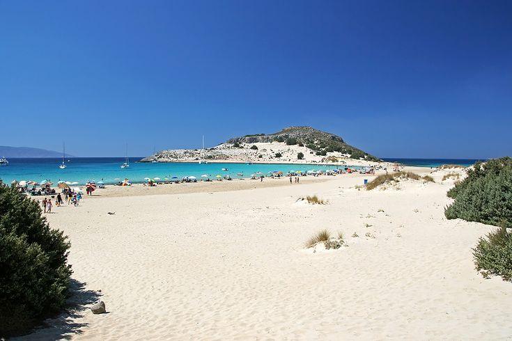 DISCOVER PELOPONNESE - Simos #beach in #Elafonisos #Greece #discover_peloponnese #sea #sand #sun discover-peloponnese.com