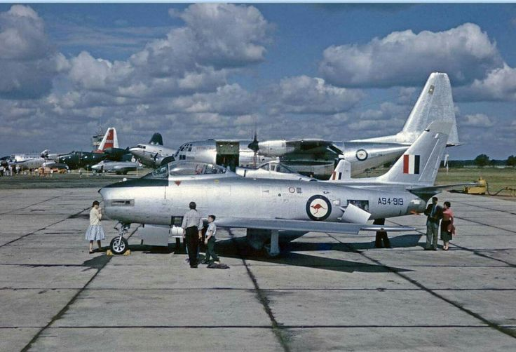 Here's a lovely photo of CAC Sabre A94-919 taken in 1958. Lots of interesting stuff in the background as well.