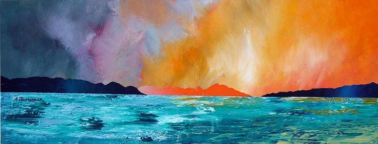 scottish art | sunset isle of harris scottish outer hebrides contemporary scottish ...