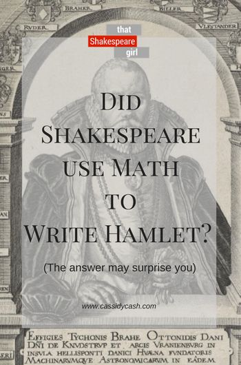 Astronomy, mathematics, history, and….plays? Absolutely. In this week's episode of Did Shakespeare, That Shakespeare Girl takes a look at the math in Shakespeare's Hamlet.  Want to explore more? Here's the research: http://adsabs.harvard.edu/full/1945PASP…57..255H http://adsabs.harvard.edu/full/2007JIMO…35…6G http://adsabs.harvard.edu/full/1964IrAJ….6..201G https://www.thoughtco.com/johannes-kepler-astronomy-4072521 h...