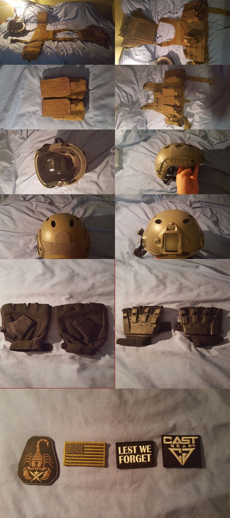 Clothing and Protective Gear 159044: Airsoft Vest And Helmet, Pouches, Patches, And Gloves -> BUY IT NOW ONLY: $75 on eBay!