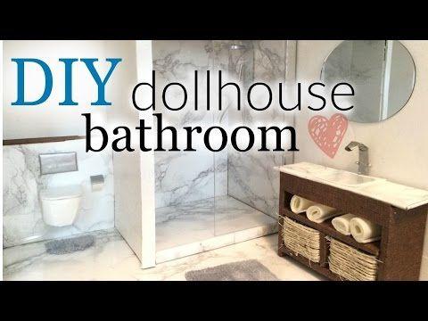 DIY: doll bathroom pt.1 - YouTube