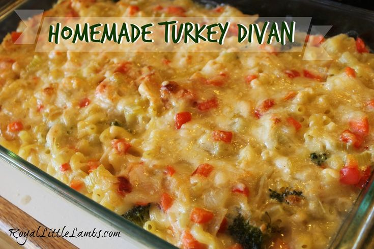 Turkey divan casserole recipe homemade thanksgiving for Divan turkey