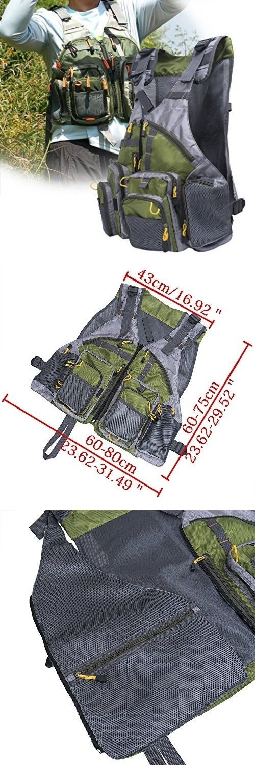 Vests 65982: V-Style Mesh Fly Fishing Vest Gear And Tools Backpack Chest Bag W Adjustable -> BUY IT NOW ONLY: $63.96 on eBay!