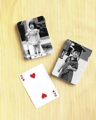 "See the ""Personalized Playing Cards"" in our 9 Creative Ways to Display Photos at Your Wedding gallery"
