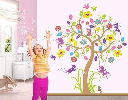 Fancy Wandtattoo Babyzimmer Wald Baum u