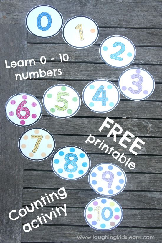 Peg the dot number counting cards with free printable - Laughing Kids Learn