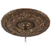 """Transitional 16"""" Wide Bronze Ceiling Medallion"""