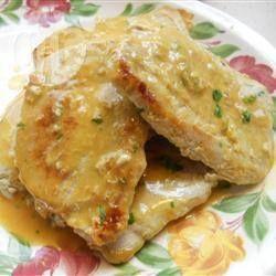 Côtelettes de porc miel et moutarde @ qc.allrecipes.ca