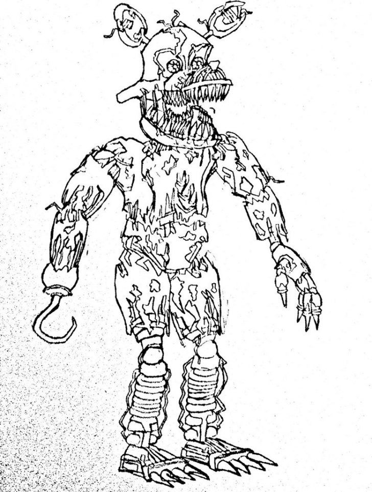Five Nights At Freddy S Coloring Pages Five Nights Of Freddy
