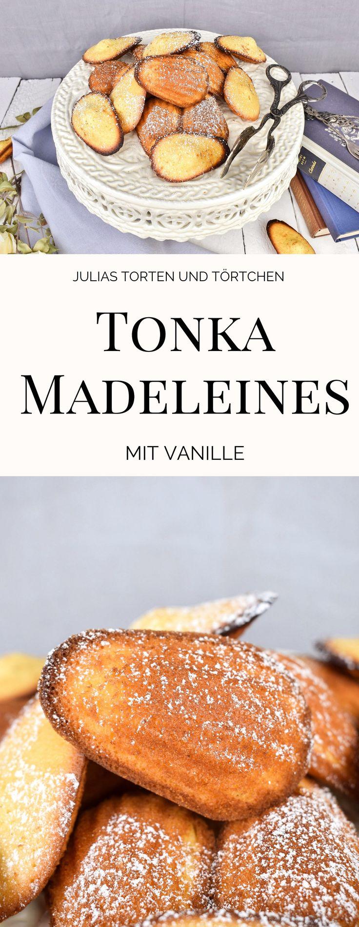 Einfaches Rezept zum backen von französischen Madeleines mit Tonkabohne  #Madeleines #Tonkabohne