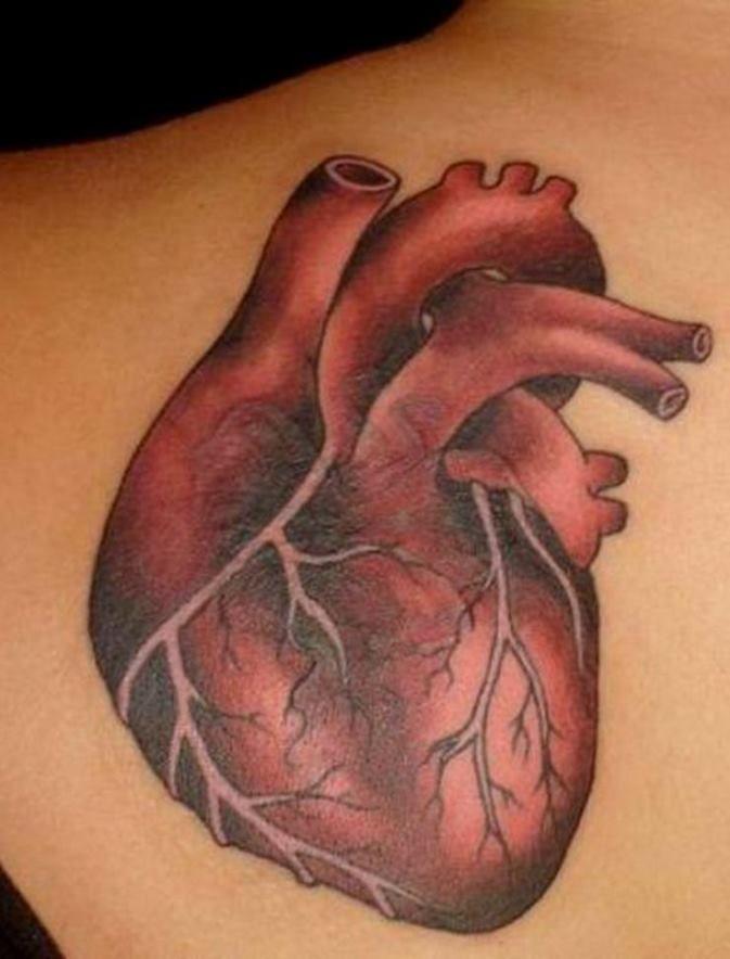 38 Realistic Heart Tattoo Designs