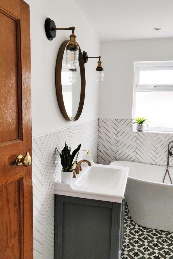 50 Small Bathroom Ideas That Increase Space in 2021 | Diy ...