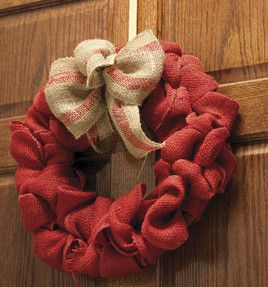Easy No-Sew Burlap Wreath with a Bow