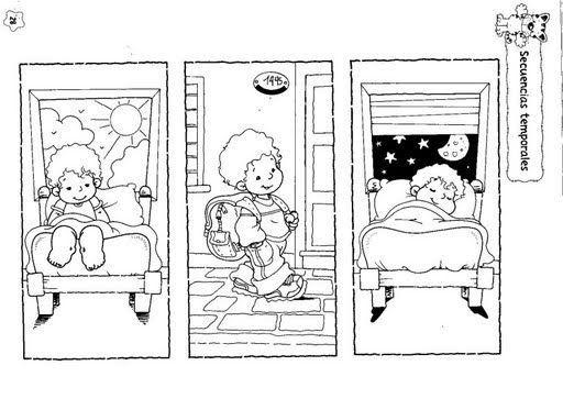 Dibujos para colorear del dia y la noche para preescolar - Imagui