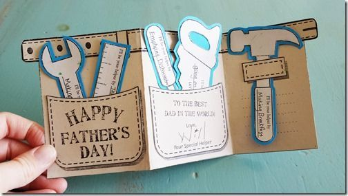 Tool Belt Father's Day Card: