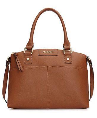 Calvin Klein Handbag, Hudson Saffiano Satchel Love this bag! :)